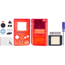 GameBoy Play it Loud Replacement Shell, Transparent Red